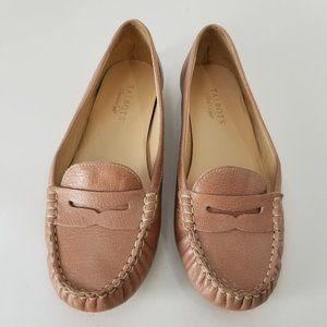 Talbots dusty rose/peach leather penny loafers